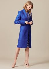 elegant mother of the bride outfit in blue