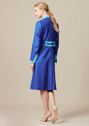 designer dress coat and matching dress