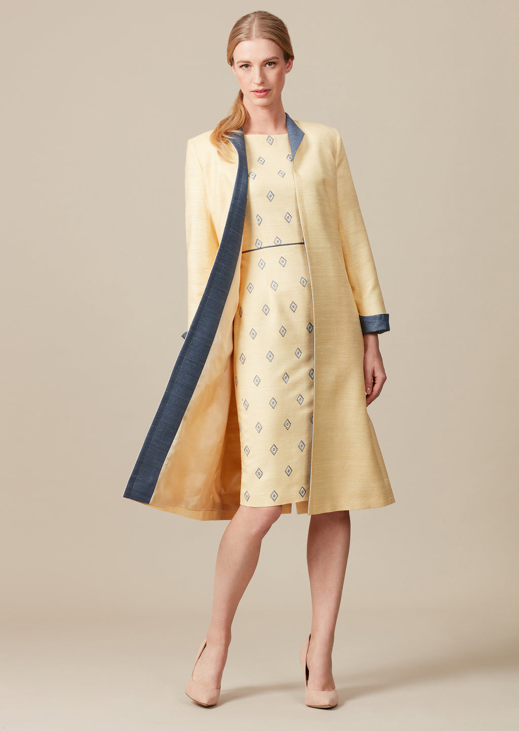 elegant mother of the bride outfit in yellow