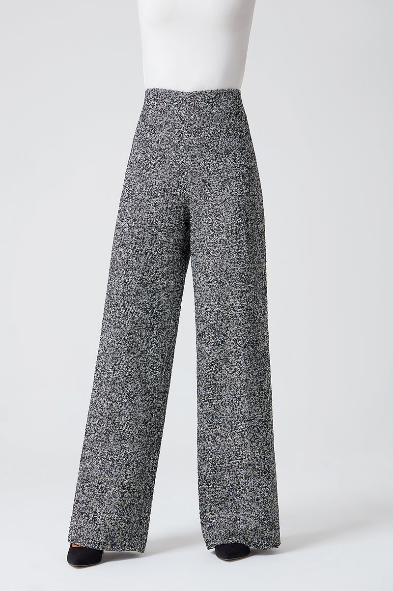 Black and White Semi Plain Trousers - Paloma