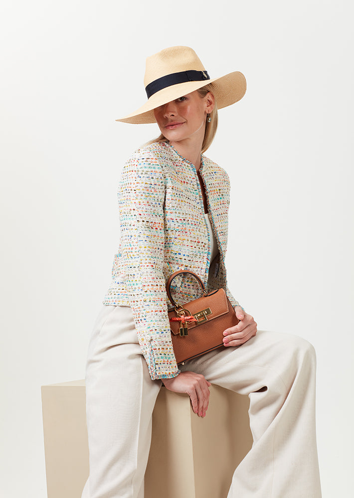 Short Tweed Jacket with Fringed Edges - Carrie