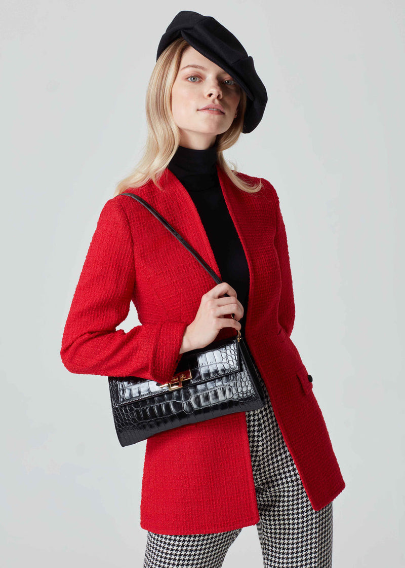 Red Tweed Jacket - Evelyn