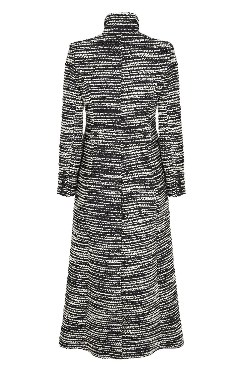 Black and White Maxi Coat - Hattie
