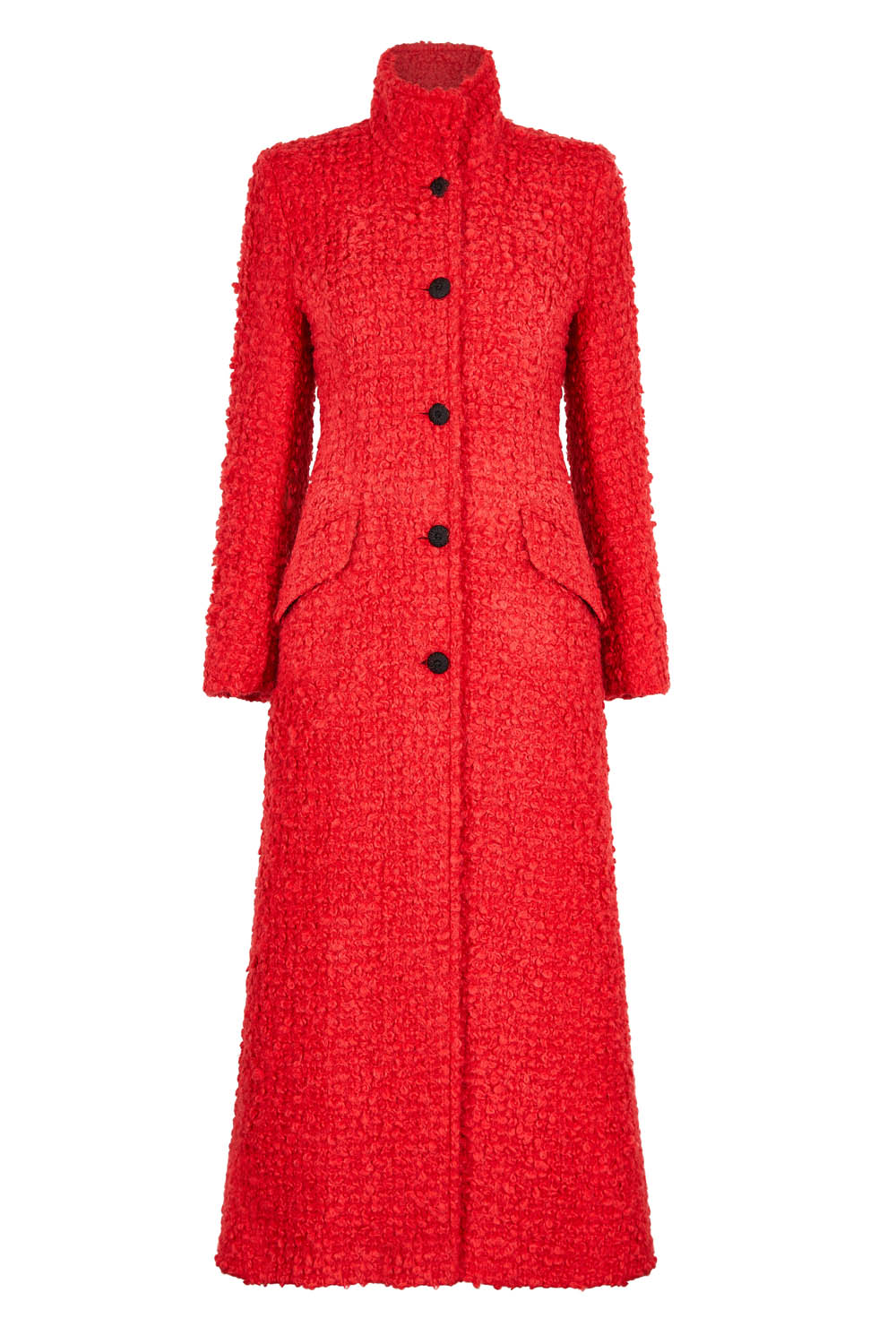 Red Maxi-Coat in Mohair/Wool - Hattie