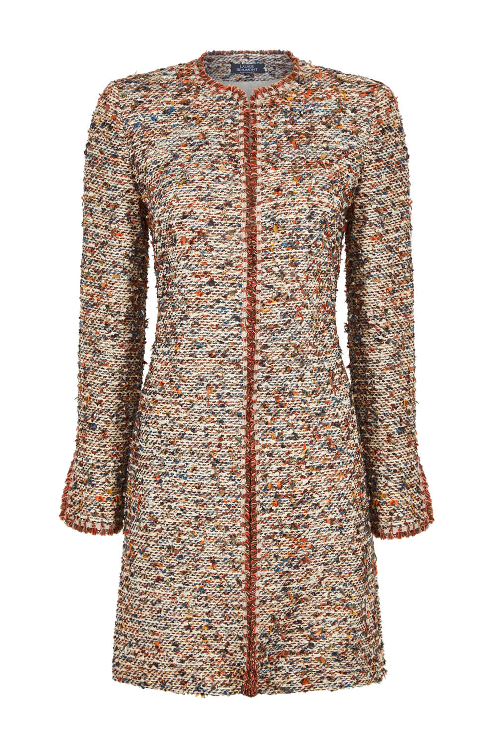 Long English Tweed Jacket in Woodland Colours - Iona