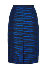 Sapphire Blue and Black Tweed Skirt - Penny