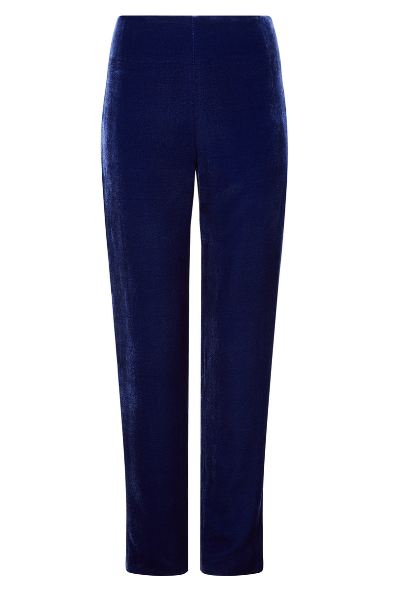 Velvet Trousers in French Navy - Phoebe