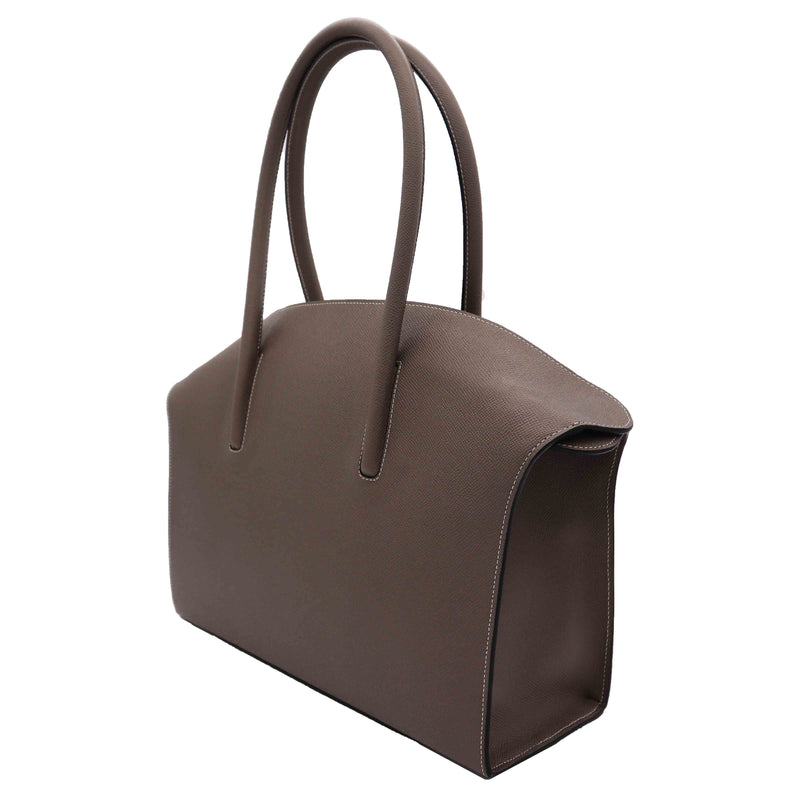 Carmen - Large Tote Handbag in Palmellato Leather - Taupe