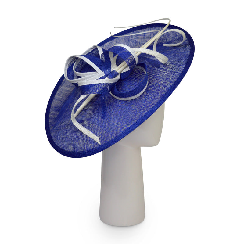 Teardrop disk hat in Sapphire and Ivory