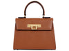 Fonteyn Midi - Palmellato Leather Handbag - Tan