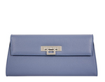 Fonteyn Clutch Alce Leather Handbag - Bluebell