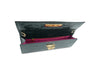 Fonteyn Clutch 'Croc' Print Leather Handbag - Green