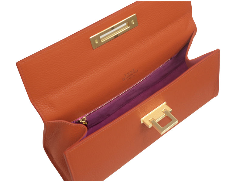 Fonteyn East West Alce Leather Handbag - Orange