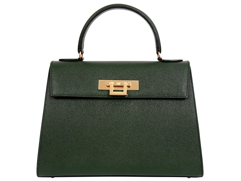 Fonteyn Large Palmellato Leather Handbag - Dark Green
