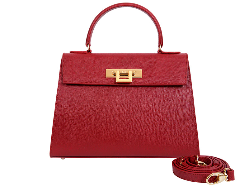 Fonteyn Large Palmellato Leather Handbag - Red