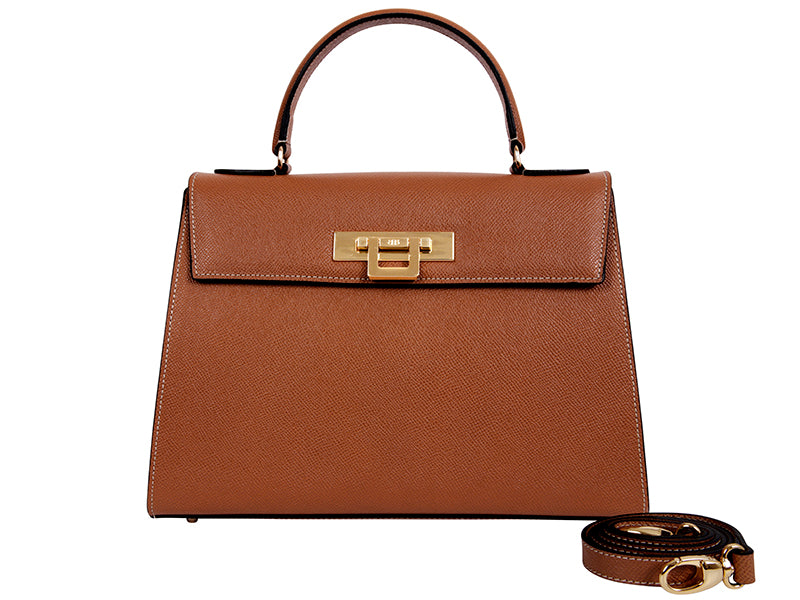 Fonteyn Large Palmellato Leather Handbag - Tan