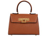 Fonteyn Mignon - Palmellato Leather Handbag - Tan