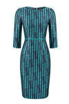 Turquoise embroidered Stripes/Swirls - Angie