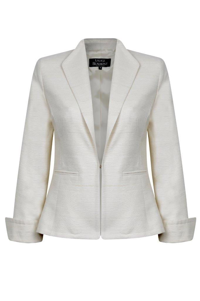 Latte Raw Silk jacket - Daphne