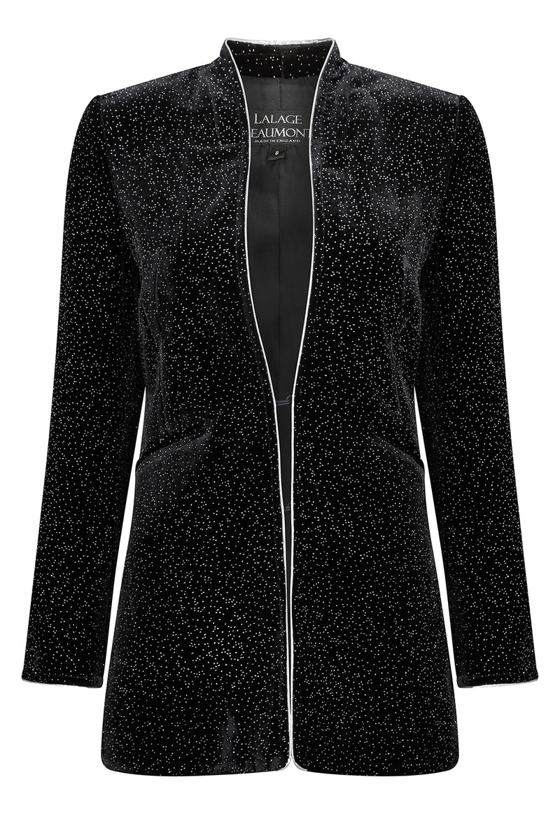 elegant black velvet jacket for special occasions