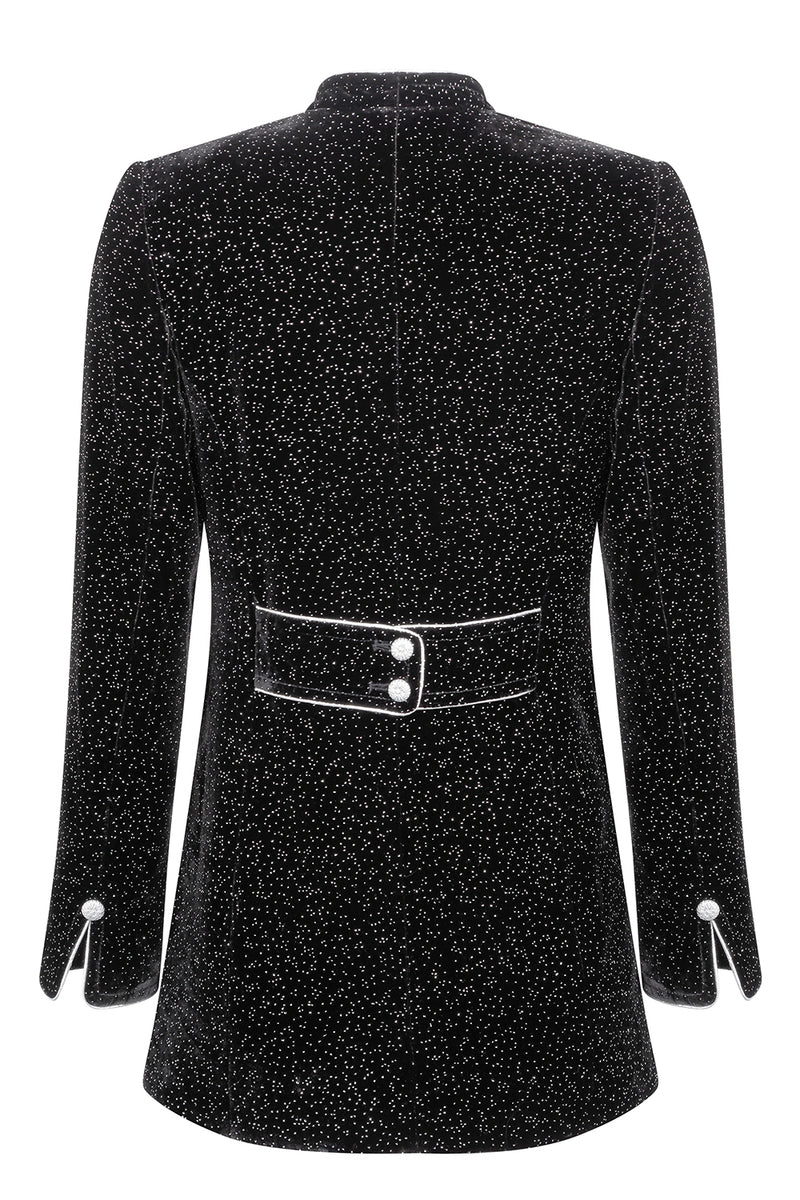 Black velvet and sequin jacket for special occasions