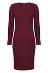 burgundy dress with matching jacket for weddings