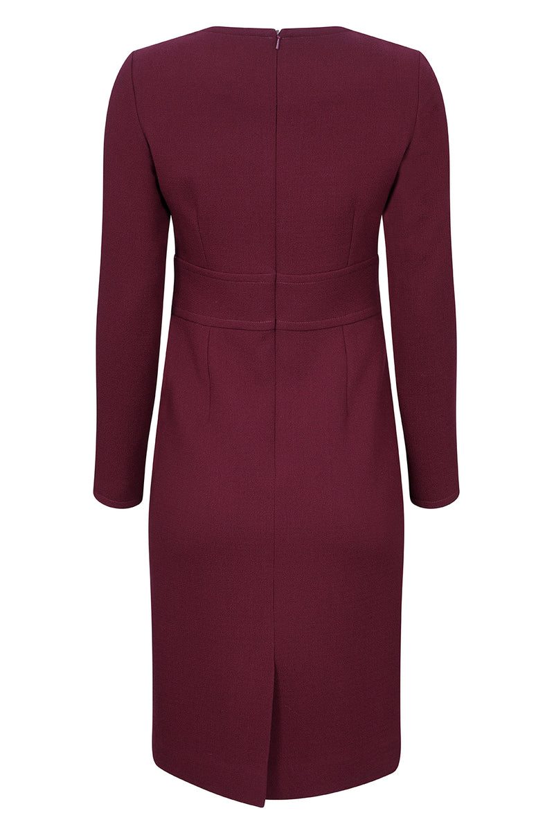 burgundy business dress
