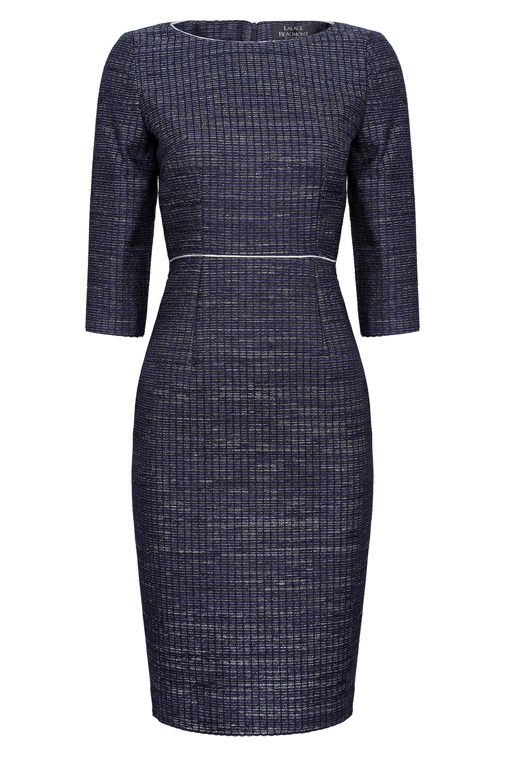 navy occasion wear dress by Lalage Beaumont