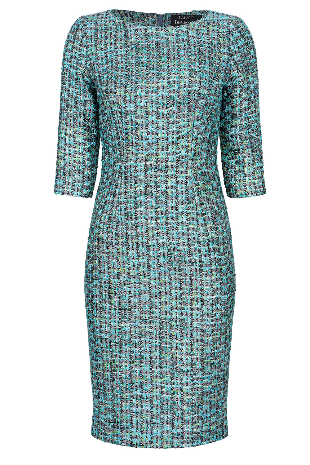 376de0444d4 Turquoise tweed mother of the bride outfit dress
