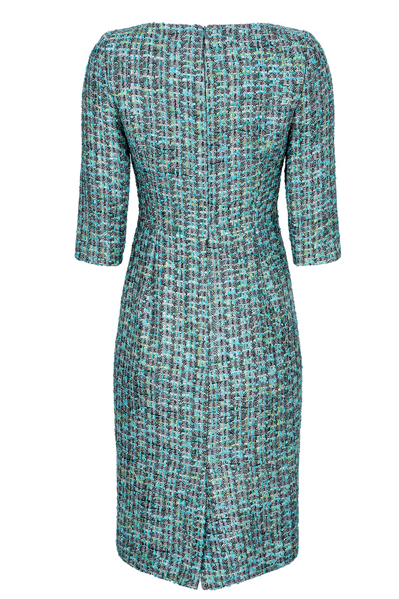Turquoise tweed designer mother of the bride outfit