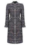 Black tweed dress coat for mother of the bride outfit