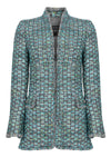 Turqouise tweed occasion wear dress coat