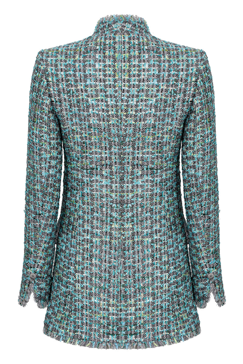 Elegant turquoise designer mother of the bride jacket