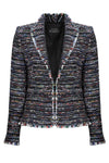 Black/Turquoise Stripe Tweed Jacket - Gina