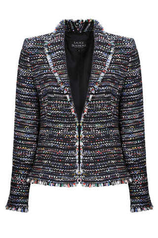 Navy/Multi-Coloured Tweed Coat/Dress - Rosie
