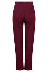 women's burgundy trousers for work