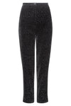 Burgundy wool double crepe narrow leg trousers  - Pandora