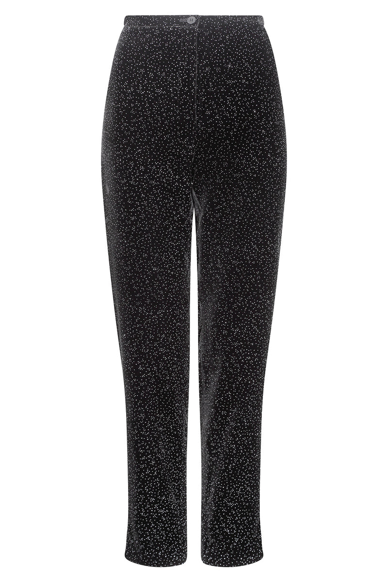 Occasion wear trousers in black fitted