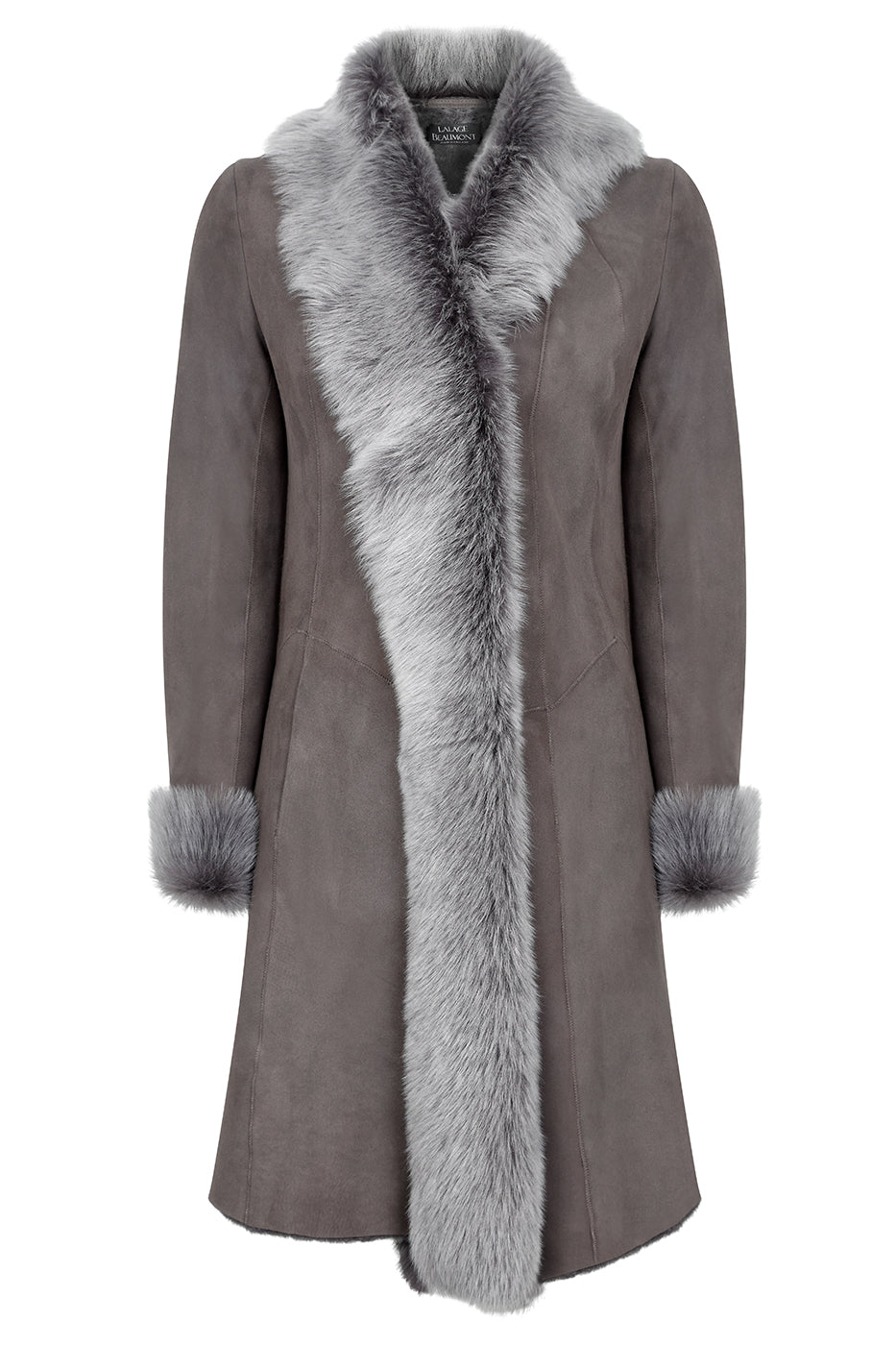 Designer sheepskin coat for women