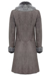 designer women's sheepskin jacket