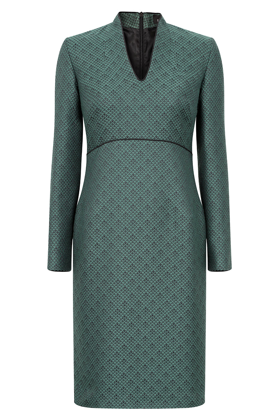 Green dress with matching jacket for weddings
