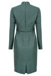 Green business dress for women