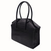 Carmen -  Large Tote Handbag in 'Croc Print' Leather - Black