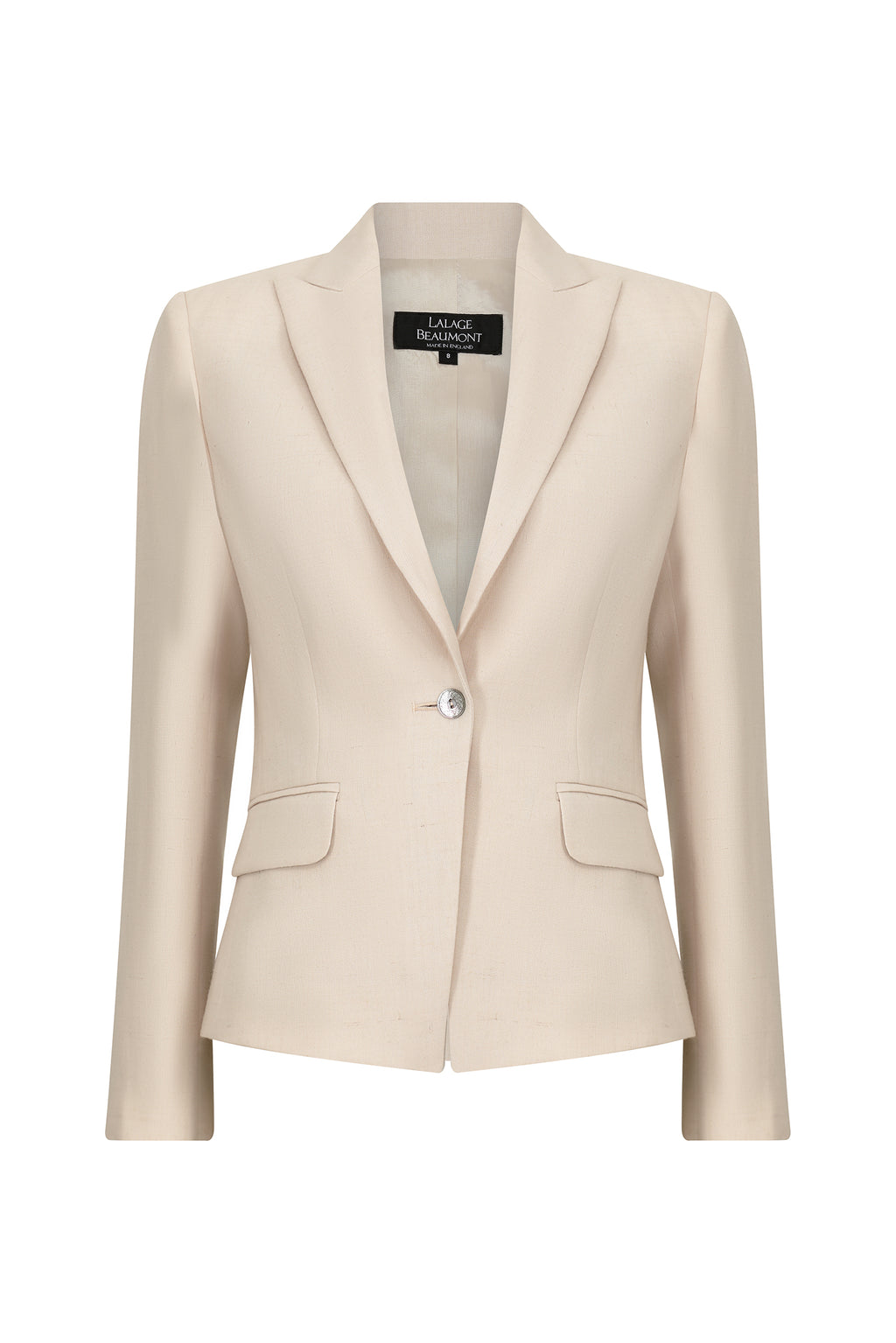 Blazer jacket in biscuit linen mix - Inez