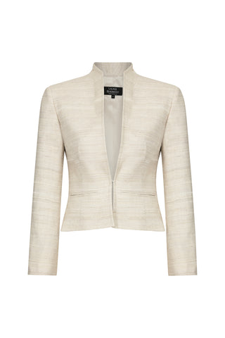 Black and White Herringbone Jacket - Imogen