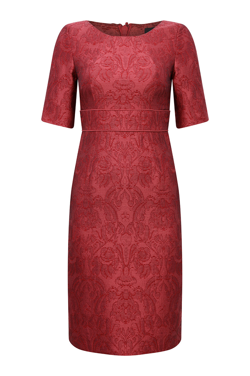 red dress for mothers of the bride, occasion wear or wedding guest by designer lalage