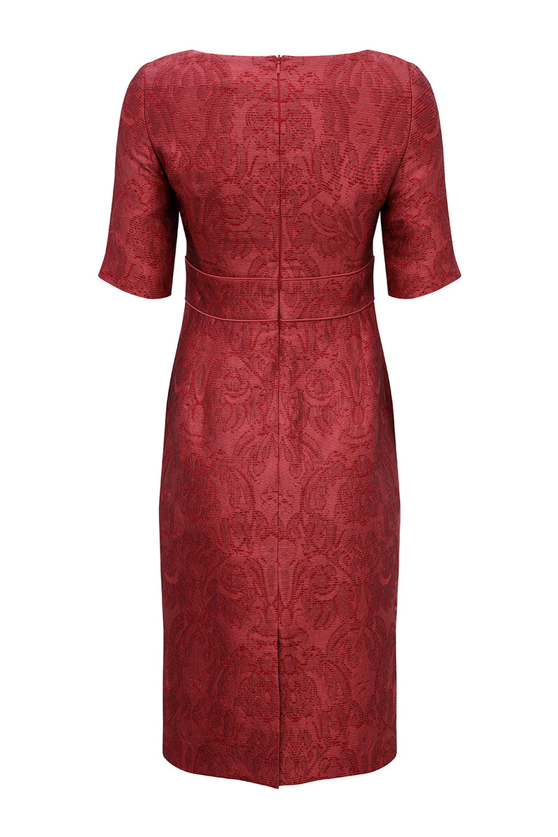 modern chic dress in red for weddings