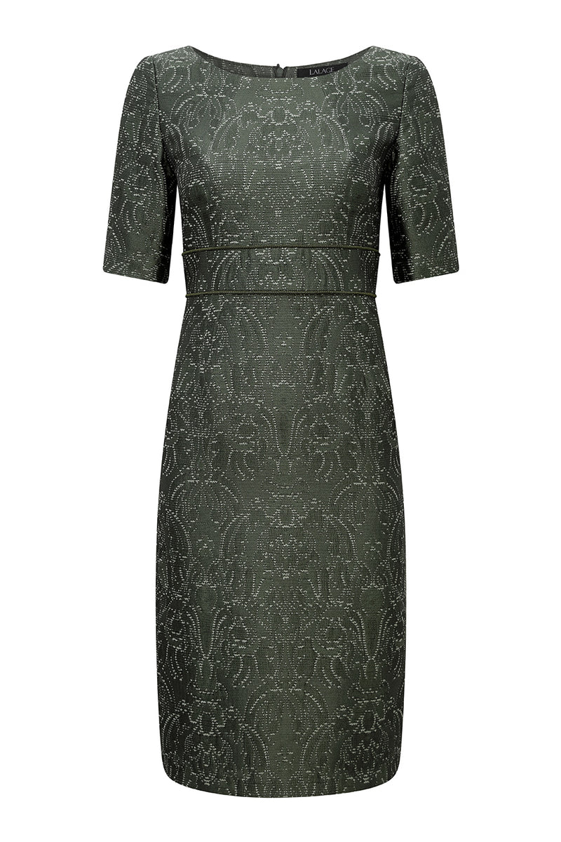 smart mother of the bride green dress by Lalage