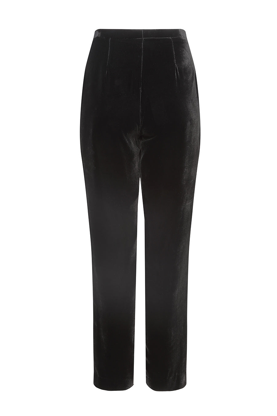 narrow black trousers for womens business outfit