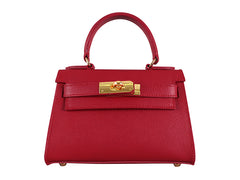 Manon Mignon Palmellato Leather Handbag - Red